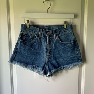John Galt high rise cut off denim short - medium